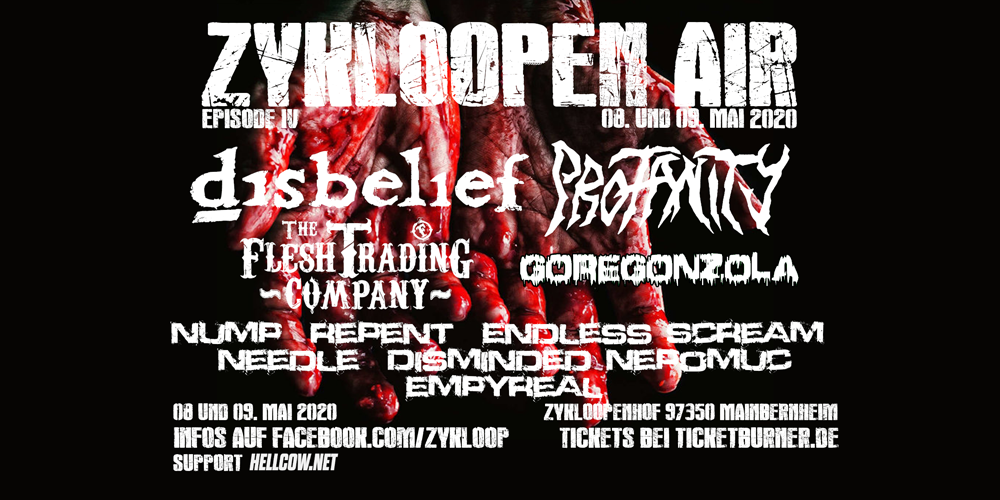 Tickets Zykloopenair, Disbelief, Profanity, The Flesh Trading Company, Goregonzola .... in Mainbernheim